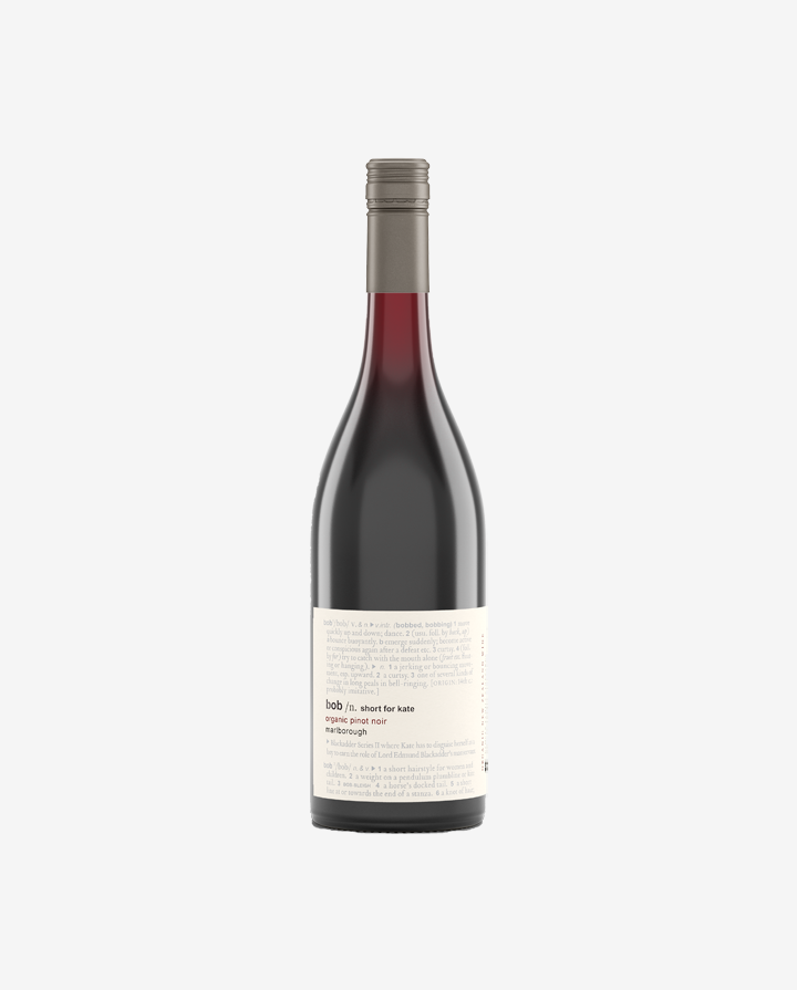 BOB Short for Kate Pinot Noir, Glover Family Vineyards 2019